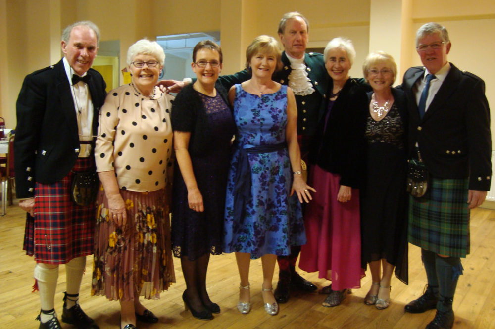 Mixed Group Photograph At Scottish Country Dance Club