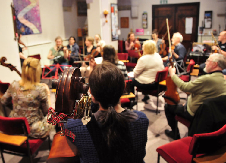 Linlithgow String Orchestra Rehearsal