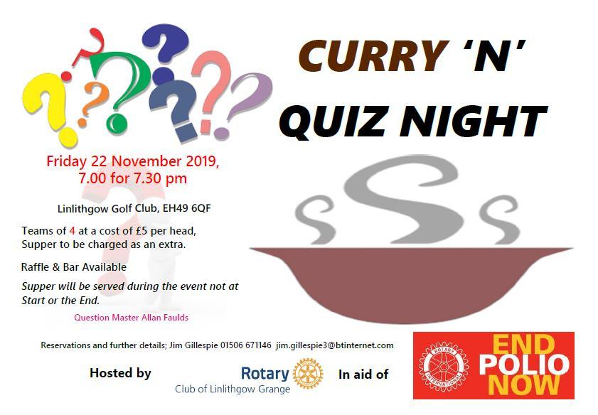 Curry 'n' Quiz Night