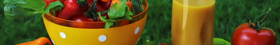 Photo of salad and juice for category Food and Drink