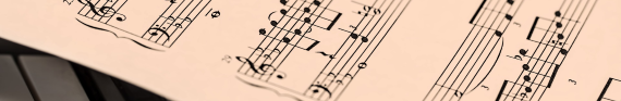 Photo of sheet music for category Music