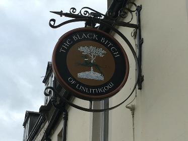 black bitch pub sign