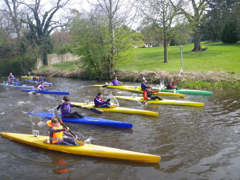 Kayak Racing On The Canal