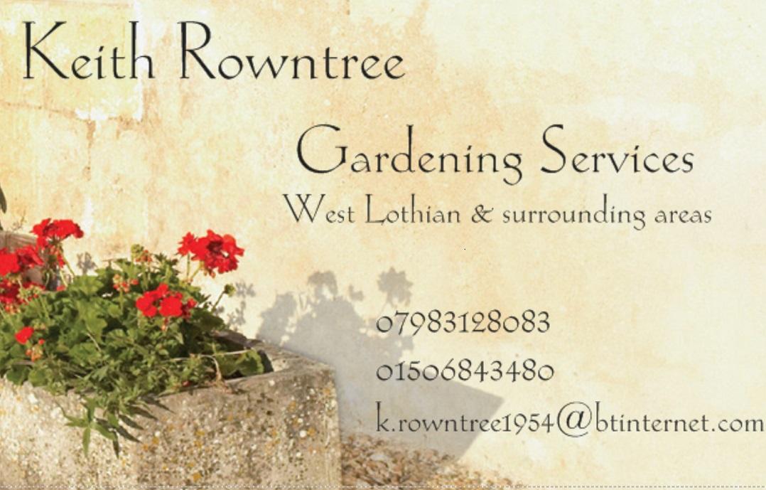 Keith Rowntree Gardening Services Logo