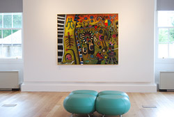 art-and-mindfulness in an art gallery