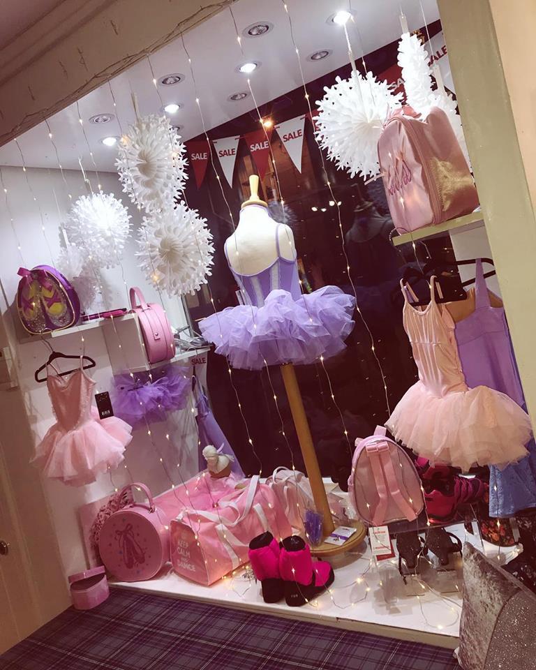 centre stage dancewear window display