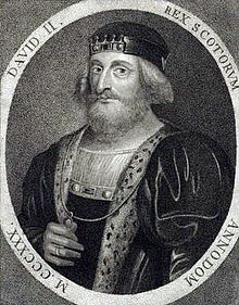 Artist's impression of David II, son of Robert the Bruce