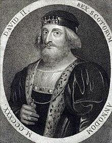 Artist's impression of David II, son of Robert the Bruce