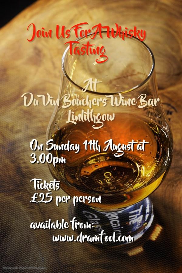 whiskey tasting poster