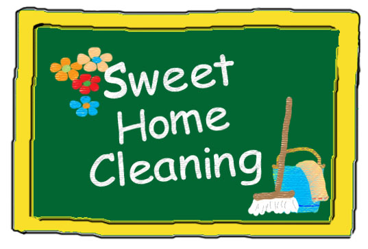 sweet home cleaning logo