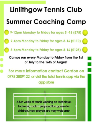 Tennis Summer Coaching Camp