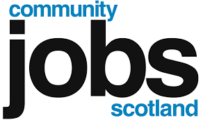 Our Funder: Community Jobs Scotland Logo