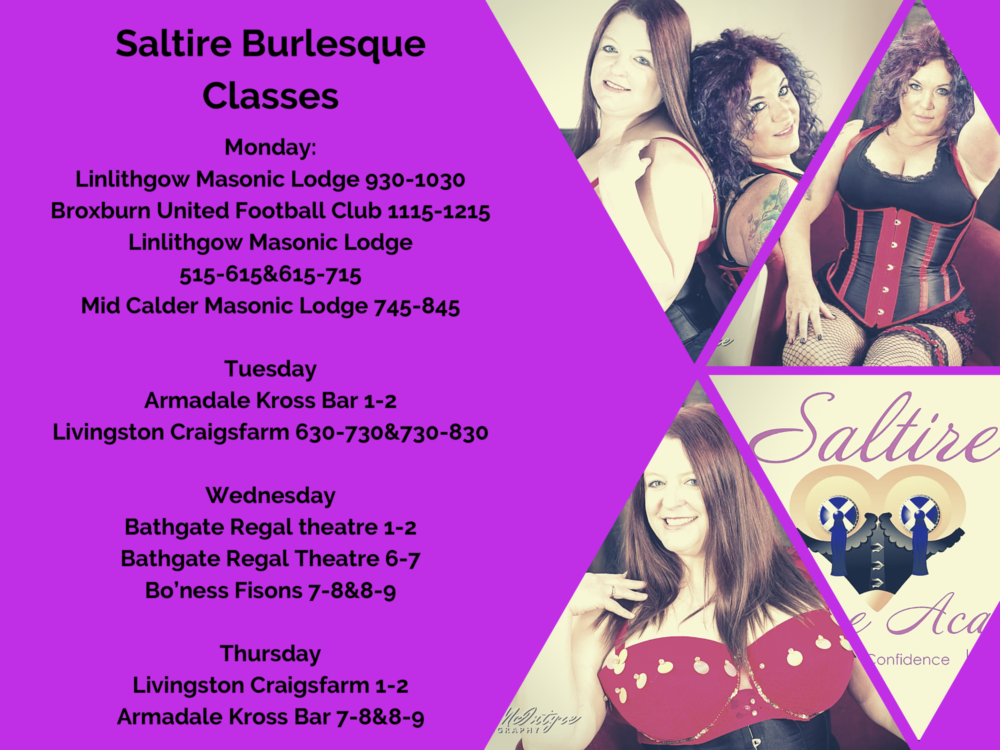 Saltire Burlesque Classes Poster