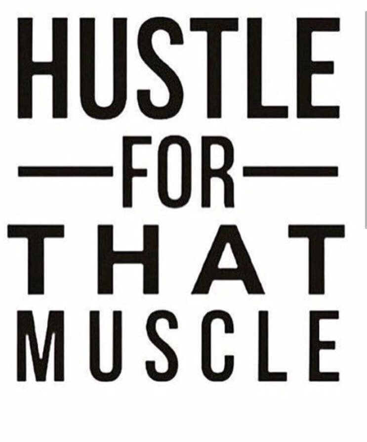 Hustle for that Muscle Logo