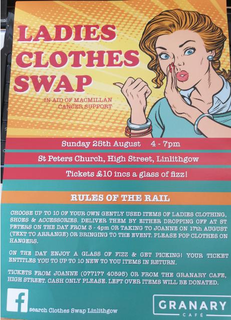 Ladies Clothes Swap Poster