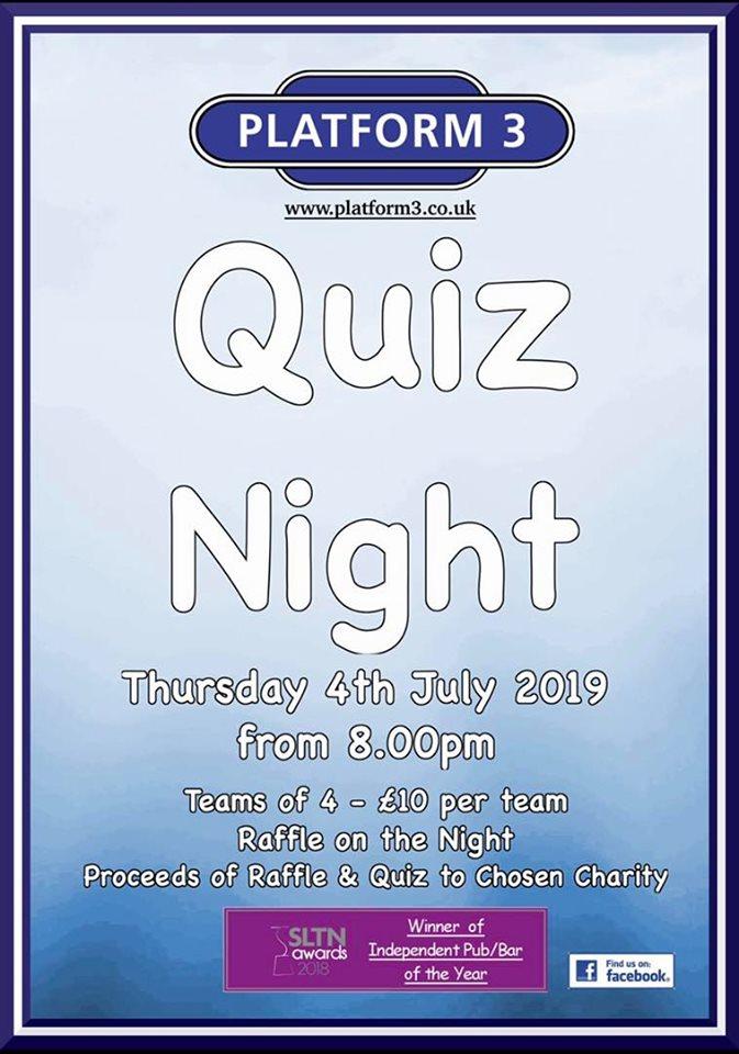 Platform 3 Quiz Night Poster