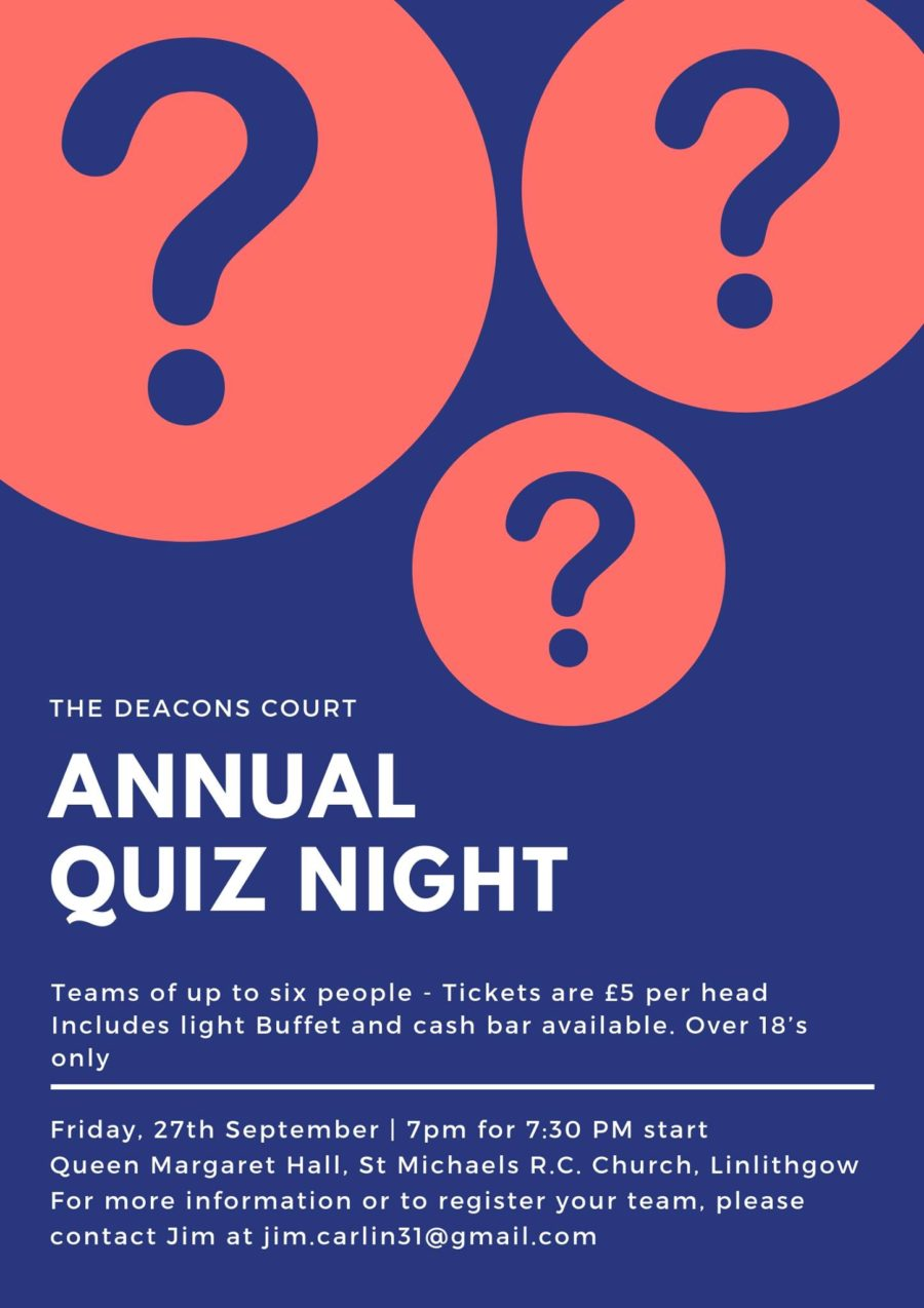 Deacons Court Annual quiz night