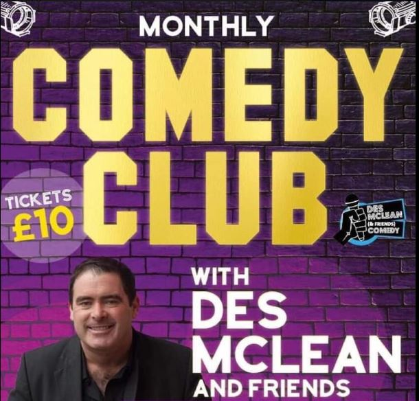 Des Mclean comedy 25th october