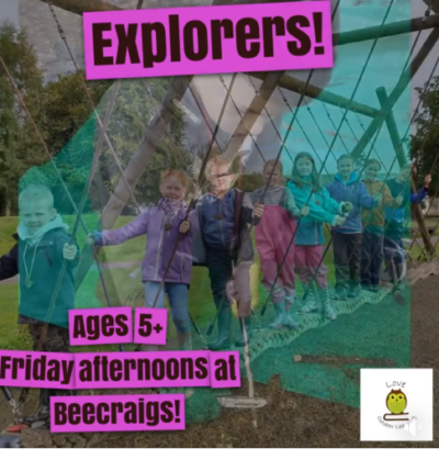 Explorers at Beecraigs Poster