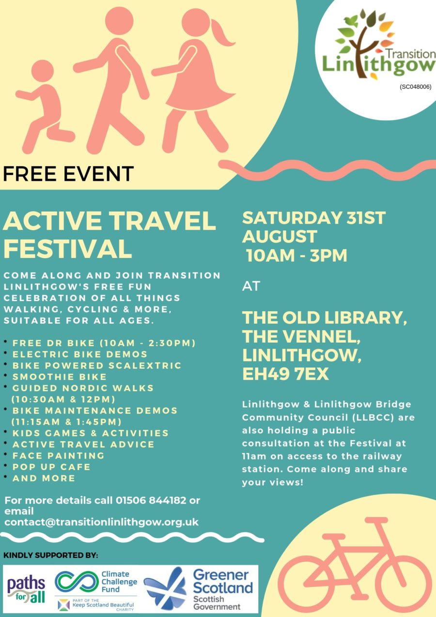Linlithgow Active Travel Festival Poster
