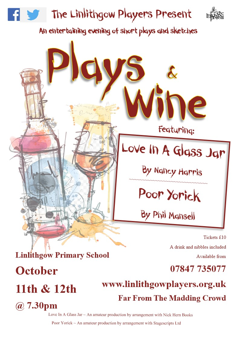 Plays and Wine Poster