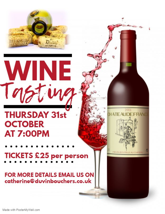 Poster for Wine Tasting Event