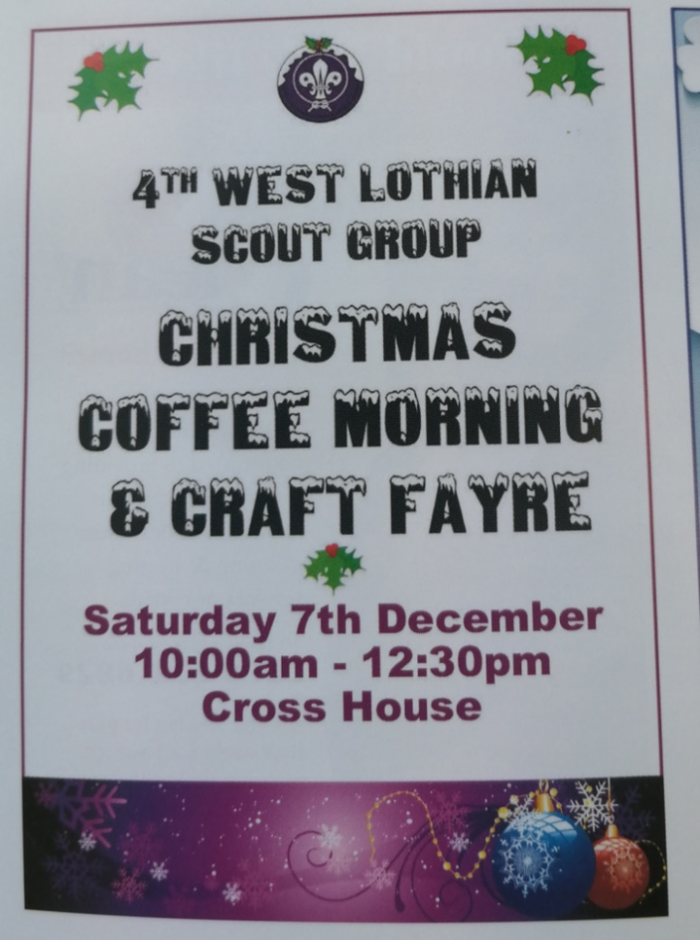 The 4th West Lothian Scout Group Coffee Morning & Craft Fayre