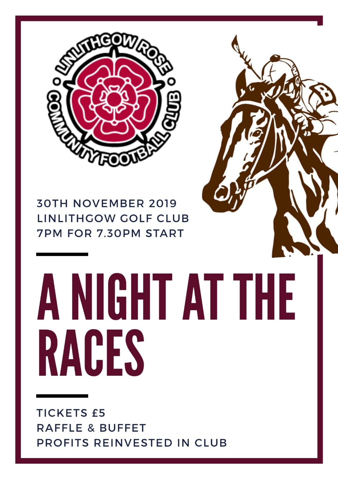 Race Night LRCFC poster