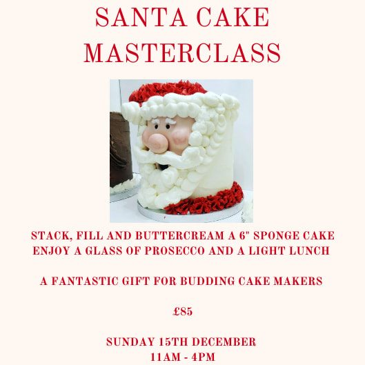 Santa cake masterclass poster