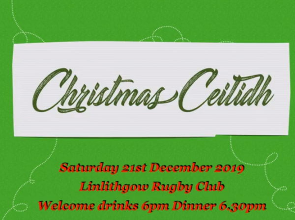 Christmas Ceilidh Poster