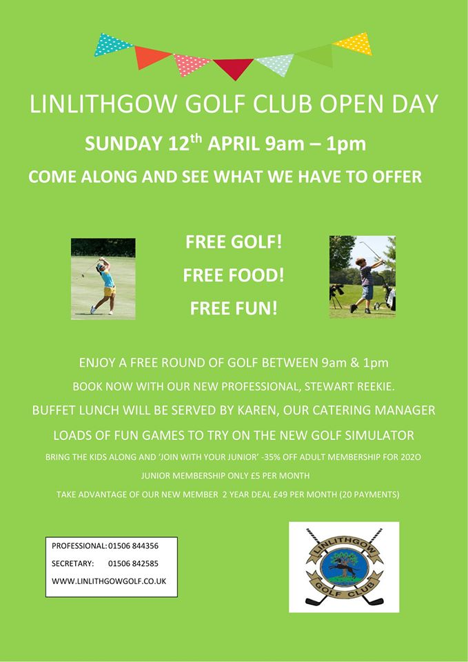 Golf Club open day poster