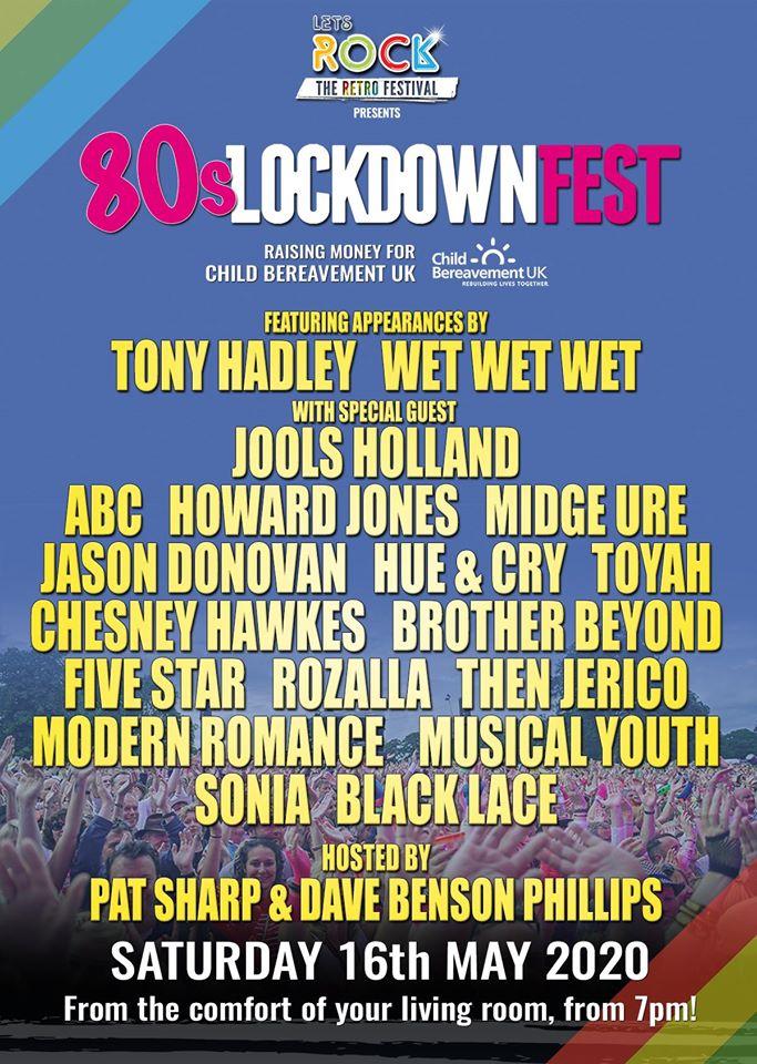 80s lockdown fest poster