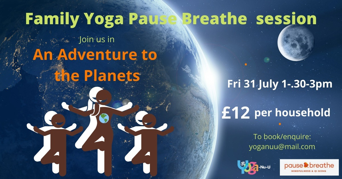 Family Yoga an Adventure to the Planets