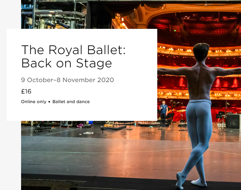 The Royal Ballet Back on Stage