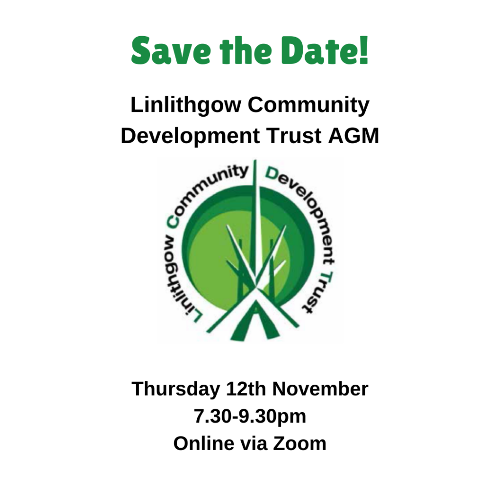 Community News 16th October: Linlithgow Community Development Trust AGM Announcement