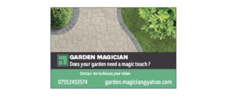 Garden Magician business card