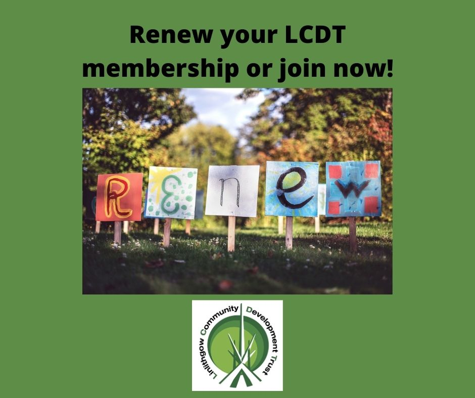 Community News 3rd December: Renew Your LCDT Membership (or Join Now) to Retain Member Benefits!