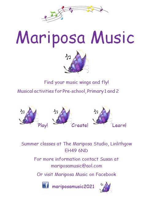 mariposa music flyer