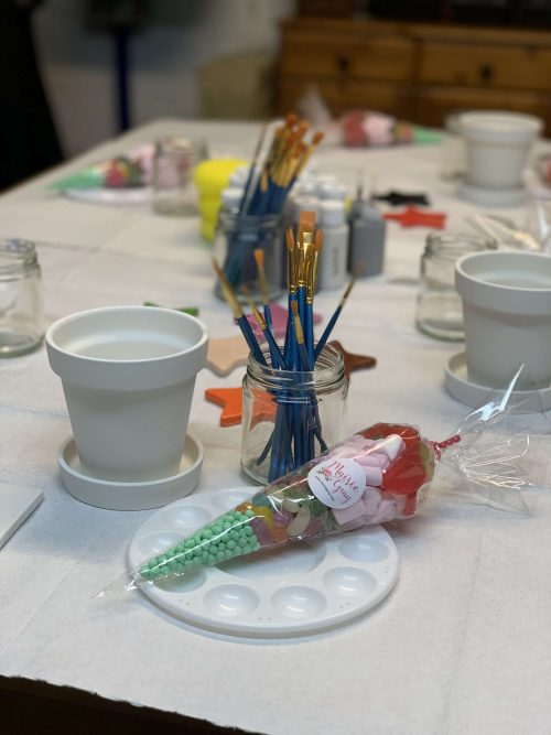 pottery birthday party